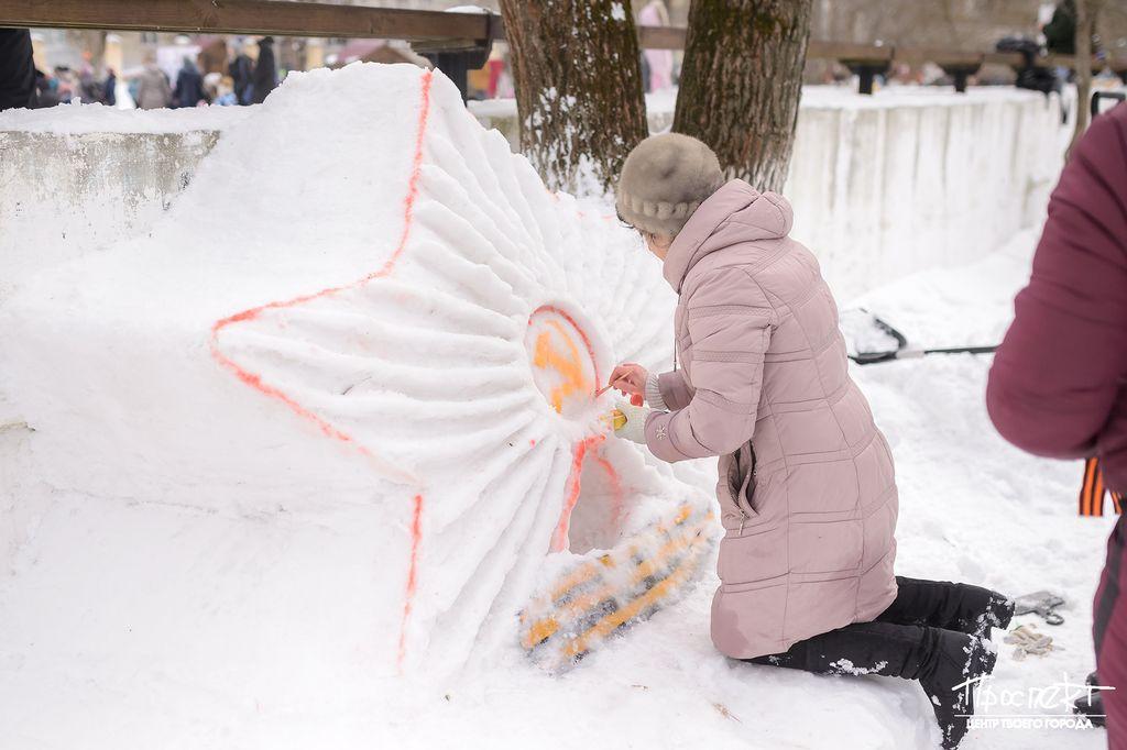 проспект медиа, снежный бум, скульптуры из снега