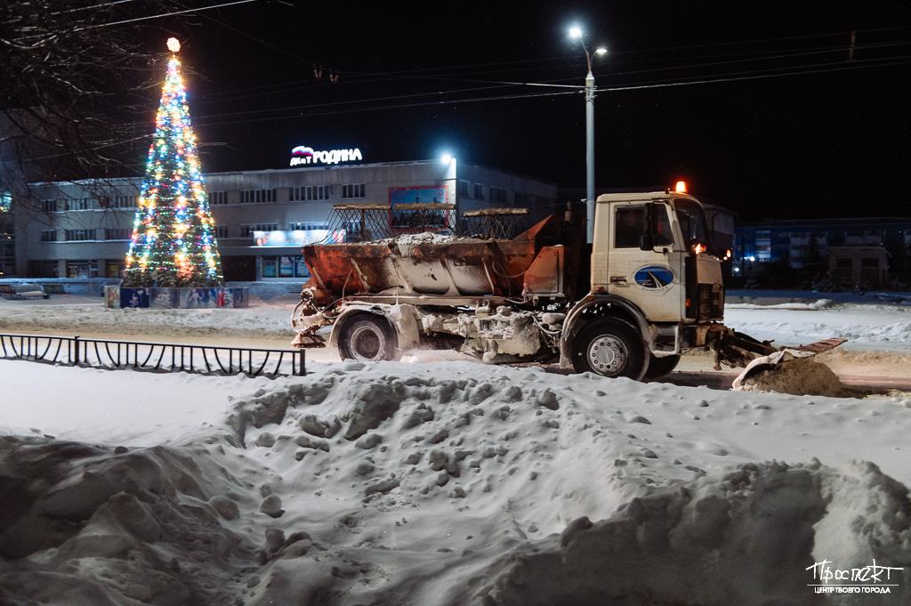 проспект медиа, уборка снега в коврове