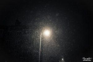 проспект медиа, снег, снегопад, ночь