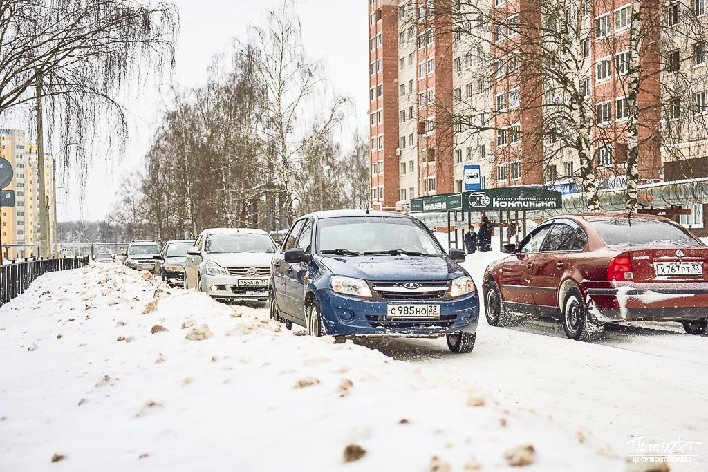 проспект медиа, уборка снега в коврове, дороги в коврове, улица ватутина