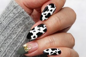 cow printed nails, cow mails, проспект медиа, коровий маникюр